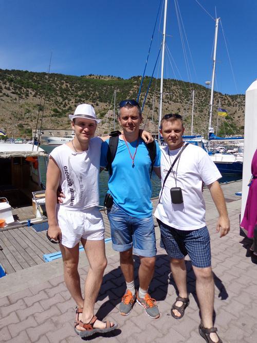 Я с Владом Челпаченко и Александром Новиковым